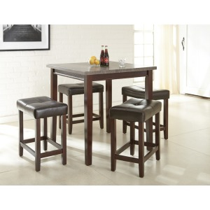Aberdeen 5Pc Counter Set Brown