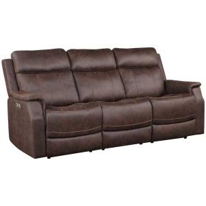 Valencia Dual-Power Reclining Sofa, Walnut