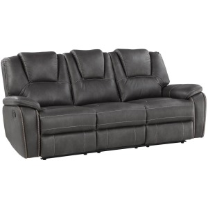 Katrine Manual Reclining Sofa - Charcoal