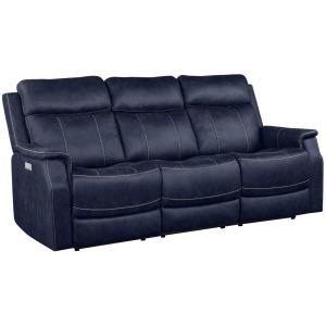 Valencia Dual-Power Reclining Sofa, Ocean Blue