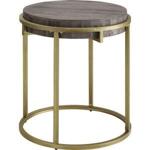 Samuel Round End Table w/Reclaimed Fir Wood Top