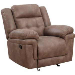 Anastasia Manual Glider Recliner - Cocoa