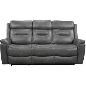 Nash Manual Reclining Sofa w/Dropdown Table, Grey
