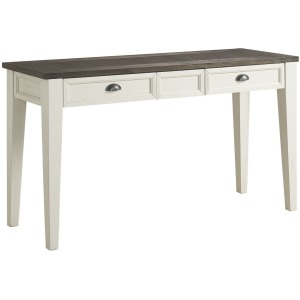 Cayla Sofa Table - Dark Oak/White