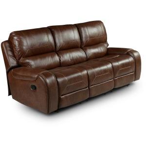 Keily Manual Reclining Sofa w/Dropdown Table, Brown