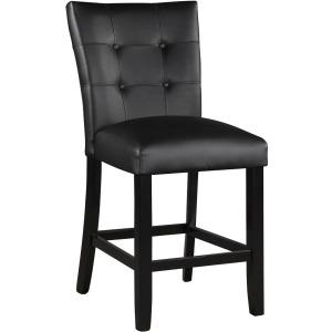 Markina Black PU Counter Chair