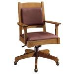 Leather Back Swivel Tilt Desk Chair