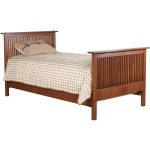 Twin Bed - Oak