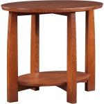 Highlands Oval End Table - Oak