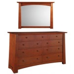 Highlands Master Dresser & Mirror - Oak