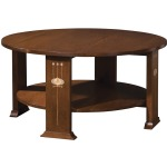 Harvey Ellis Round Cocktail Table - Oak