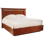 Highlands King Bed - Platform/Storage - Oak
