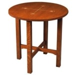 Lamp Table with Inlay