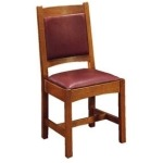 Leather Back Cottage Side Chair