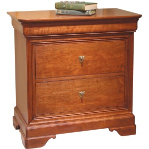 La Rochelle Night Stand w/Wood Top