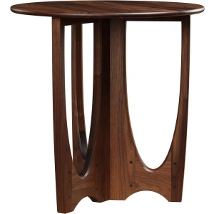 Walnut Grove Round Lamp Table w/Wood Top