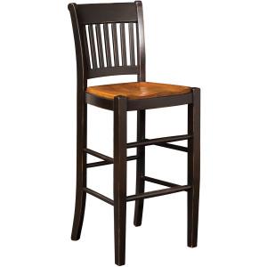 American Heritage Bar Stool w/Wood Seat