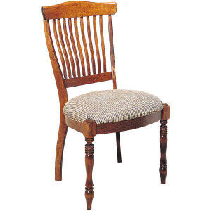 Antiguan Side Chair w/Upholstered Seat