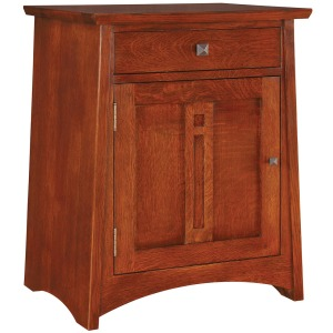 Highlands Door Night Stand - Left Hinged Door - Oak