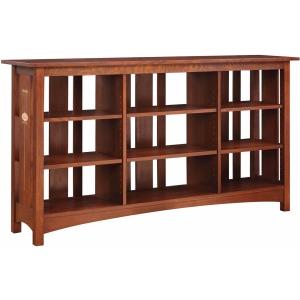 Slatted Back Bookcase w/6-Shelves