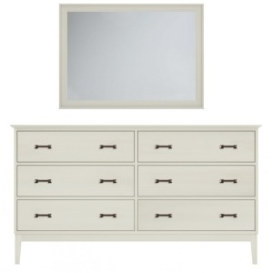Gable Road Six-Drawer Dresser & Mirror - Ember