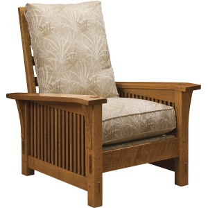 Spindle Morris Chair with Loose Cushion - Cherry