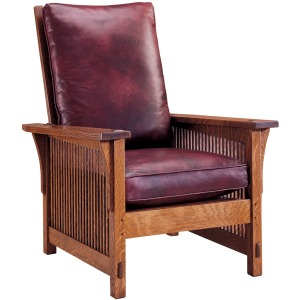 Compact Spindle Morris Chair - Oak