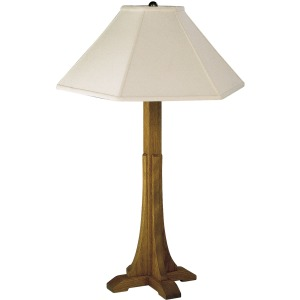 Cross Base Table Lamp - Linen