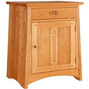 Highlands Right Hinged Door Nightstand - Cherry