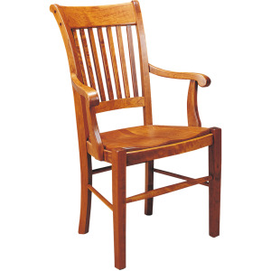 American Heritage Arm Chair w/Leather Seat