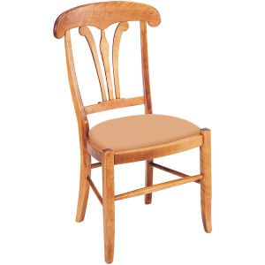 Country Manor Side Chair w/Leather Seat