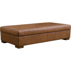 Marble Falls Cocktail Ottoman - Leather