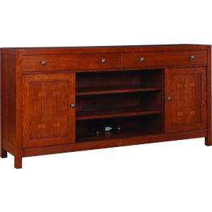"TV Console - 66"" Wide - Oak"