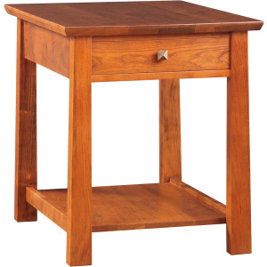 Highlands End Table - Cherry