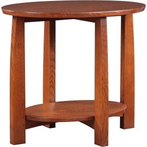 Highlands Oval End Table - Oak