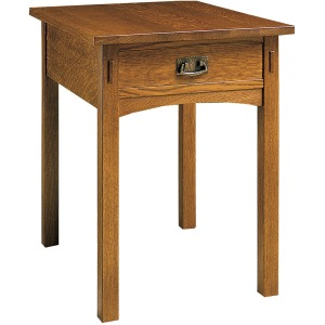 Rectangular End Table - Oak