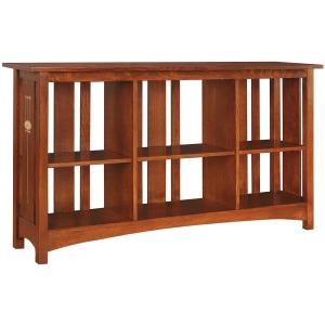 Slatted Back Bookcase - Oak