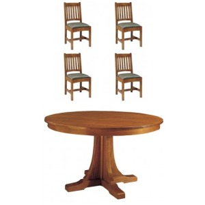 5 PC Pedestal Dining Set