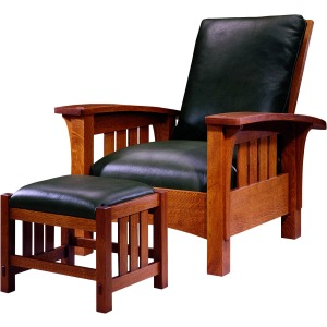 Bow Arm Morris Chair -Oak