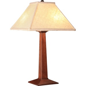 Table Lamp - Linen & Cherry