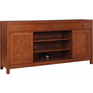 "TV Console - 66"" Wide - Cherry"