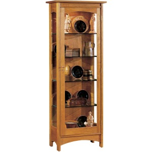 Display Cabinet - Wood Back Oak