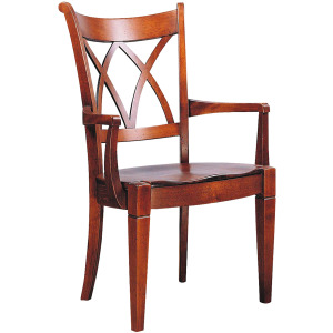 Lafayette Lattice Arm Chair w/Wood Seat