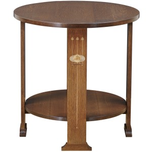 Harvey Ellis Round Lamp Table - Oak