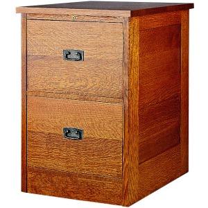 Two Drawer File Unit - Oak