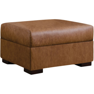 Marble Falls Ottoman - Leather