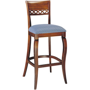 Mont Blanc Bar Stool w/Upholstered Seat