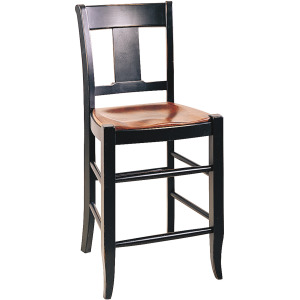 """Provence 24"""" Counter Stool w/Leather Seat"""