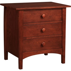 Three Drawer Night Stand - Cherry Drawer Fronts