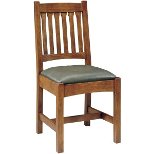 Cottage Side Chair with Slat Back - Oak
